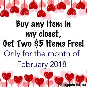 💕Buy Any Item, Get Two $5 Items Free!❤️